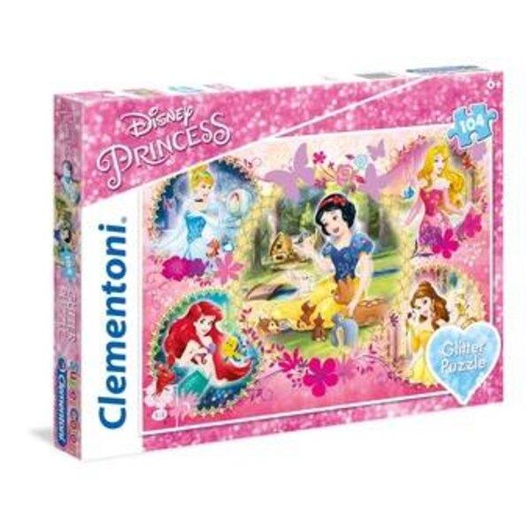 Princesses Disney - à paillette Puzzle 104 pièces