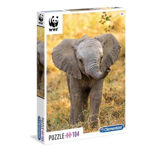 Eléphant - WWF (Ax2) Puzzle 104 pièces