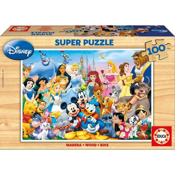 Bois le merveilleux monde de disney Puzzle 100 pièces