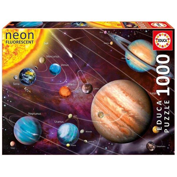 Neon systeme solaire Puzzle 1000 pièces
