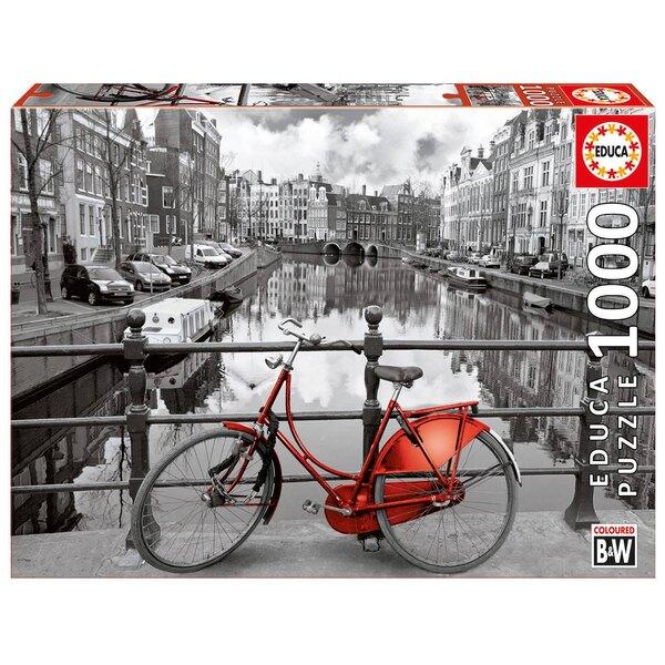 "Amsterdam, hollande ""coloured black & white"" Puzzle 1000 pièces"