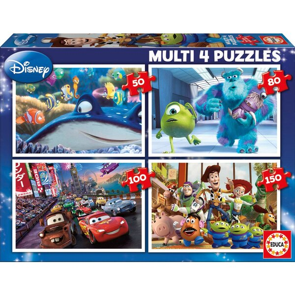 Multi 4 in 1 pixar (nemo-monsters- cars-toy story) 50 pièces