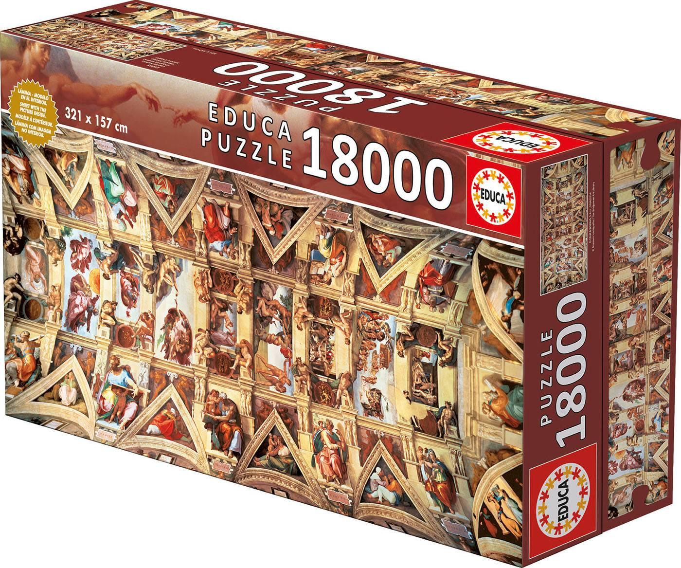 Puzzle xxl - chapelle sixtine 18000 pièces--Educa