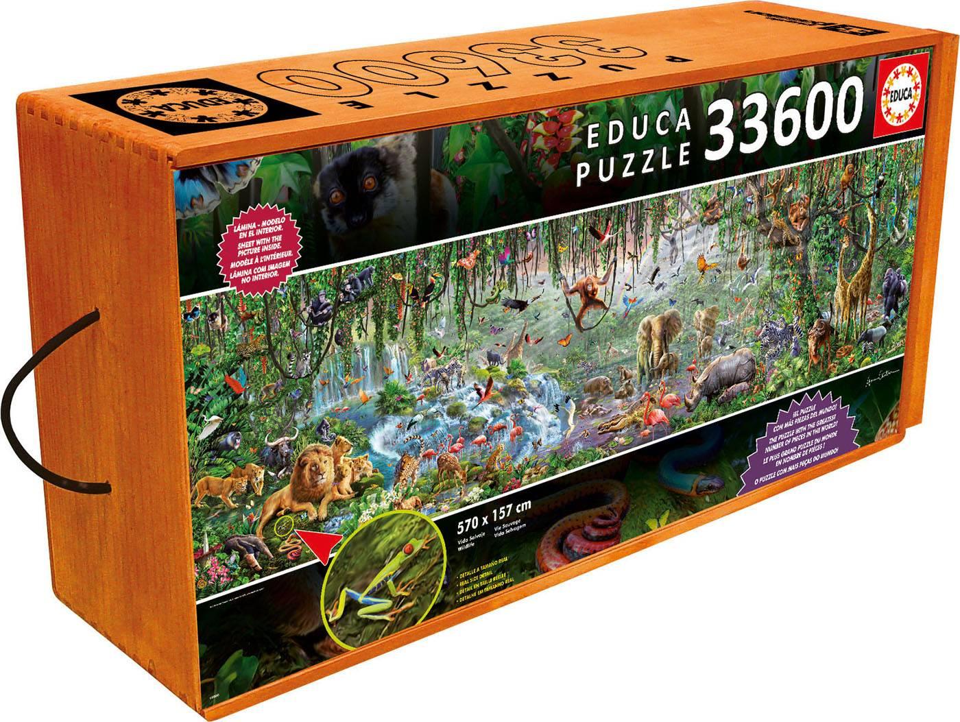 Puzzle xxl - La vie sauvage 33600 pièces--Educa