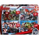 Puzzle Multi 4 en 1 the avengers Educa EDUCA-16331