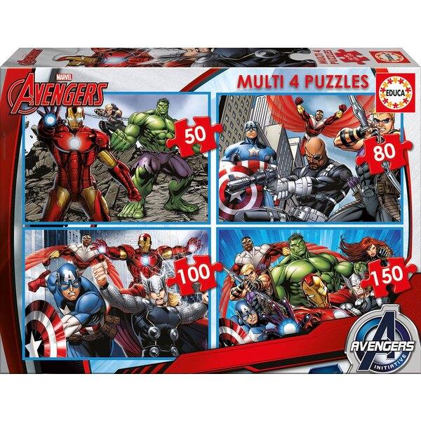 Multi 4 en 1 the avengers Puzzle 2 pièces