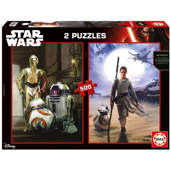Star wars star wars vii : le reveil de le force Puzzle 2 pièces