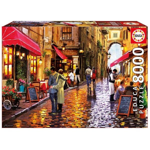 Café street Puzzle 8000 pièces