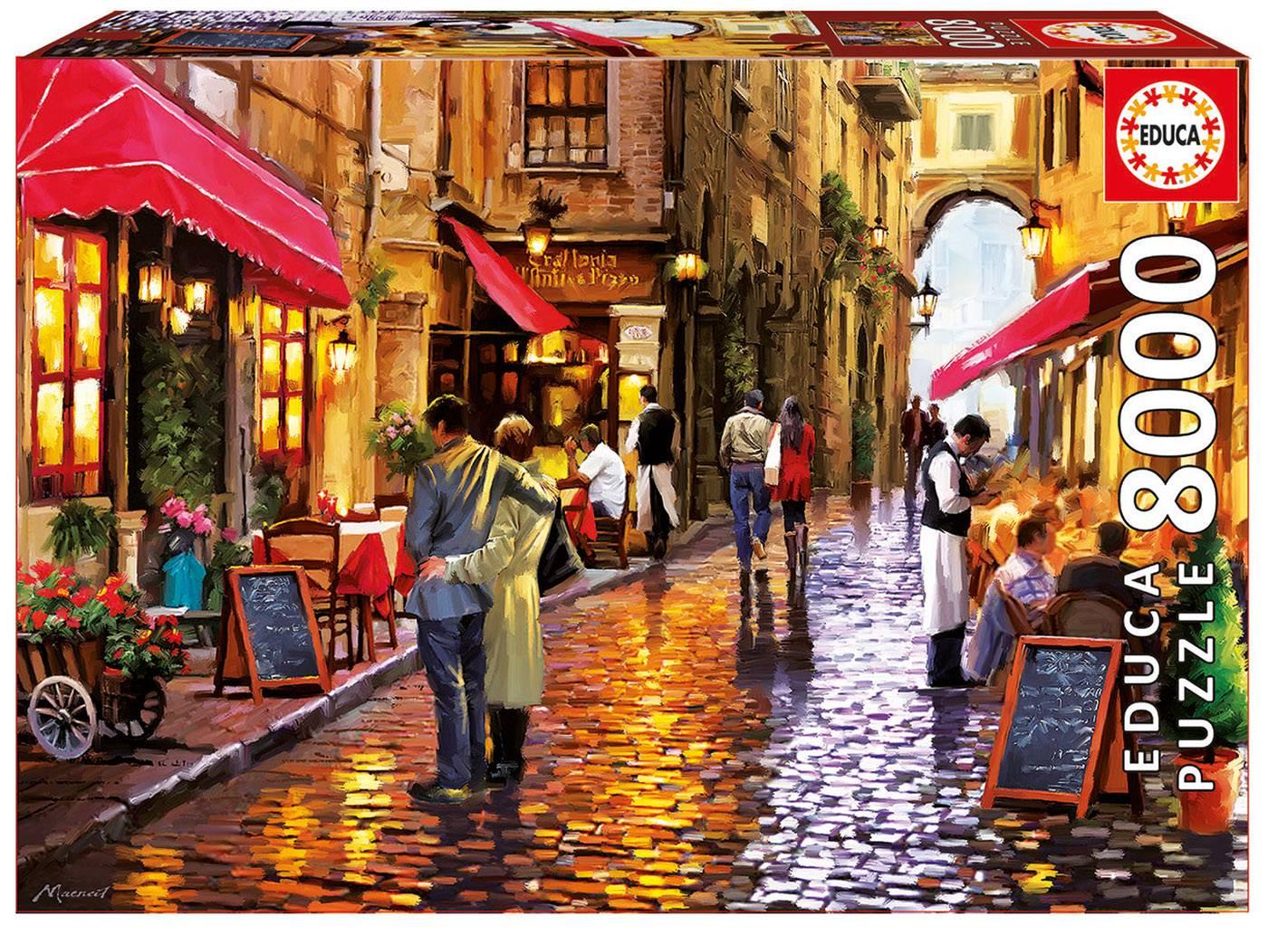 Puzzle - Café street Puzzle 8000 pièces--Educa