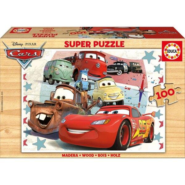 Bois cars Puzzle 100 pièces