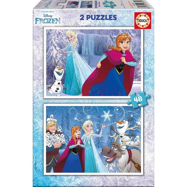 La reine des neiges (nouveau) Puzzle 2 pièces