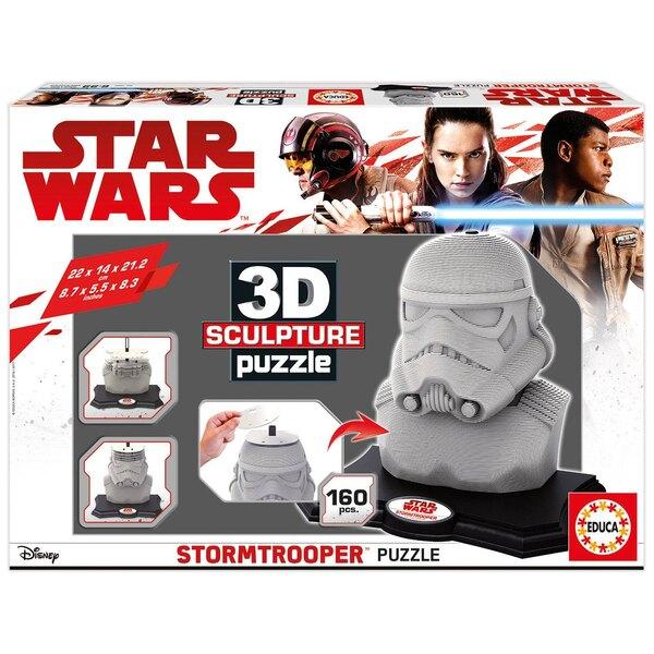 3d sculpture puzzle stormtrooper