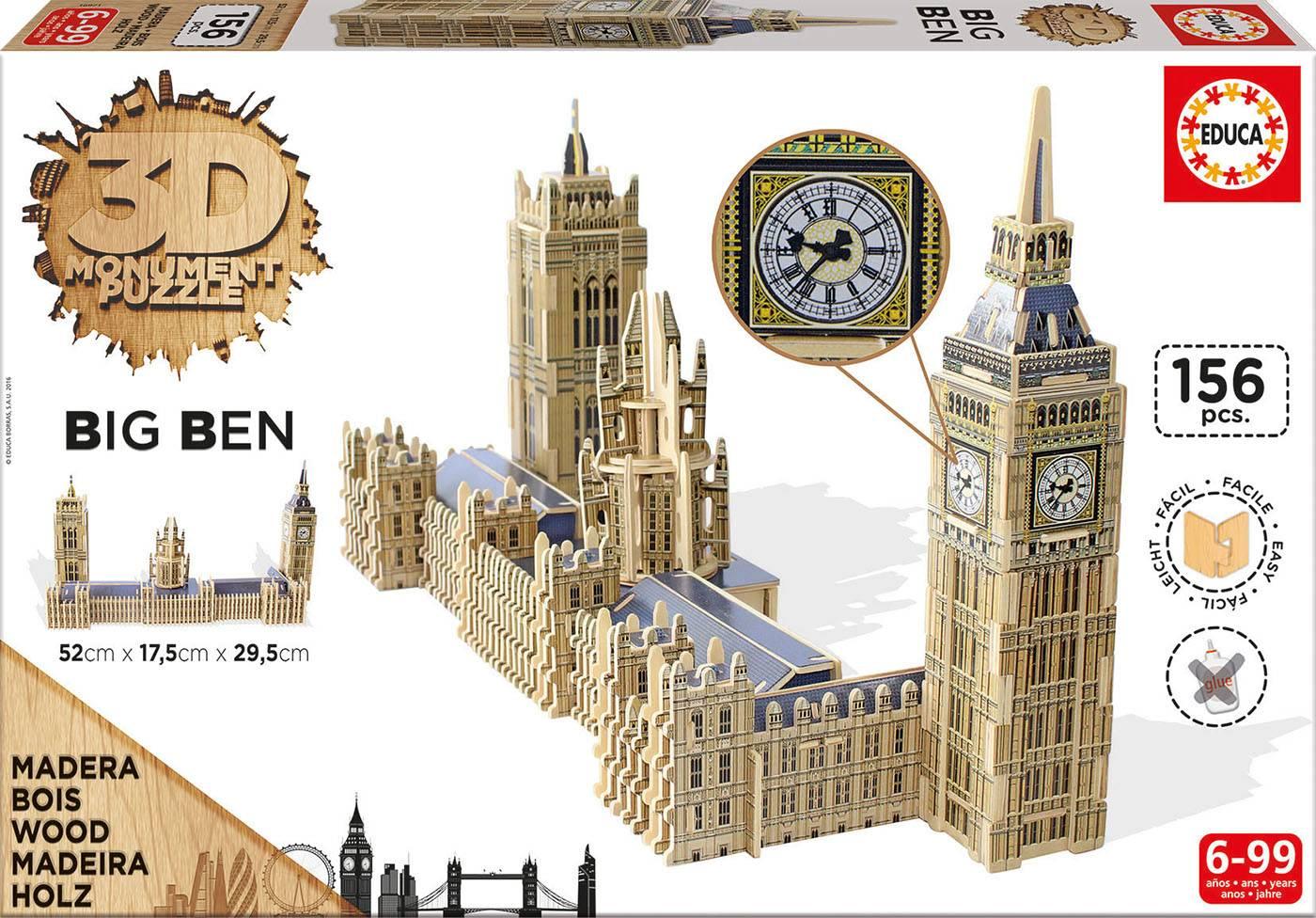 Puzzle 3d - 3d monument puzzle big ben & parliament Puzzle 3d 156 pièc