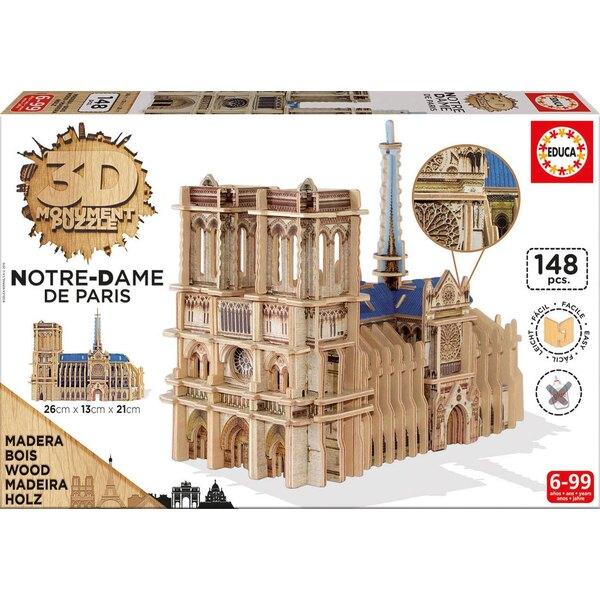 3d monument puzzle notre-dame Puzzle 3d 148 pièces