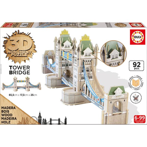 3d monument puzzle tower bridge Puzzle 3d 92 pièces
