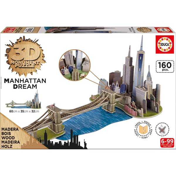3d monument puzzle manhattan dream Puzzle 3d 160 pièces
