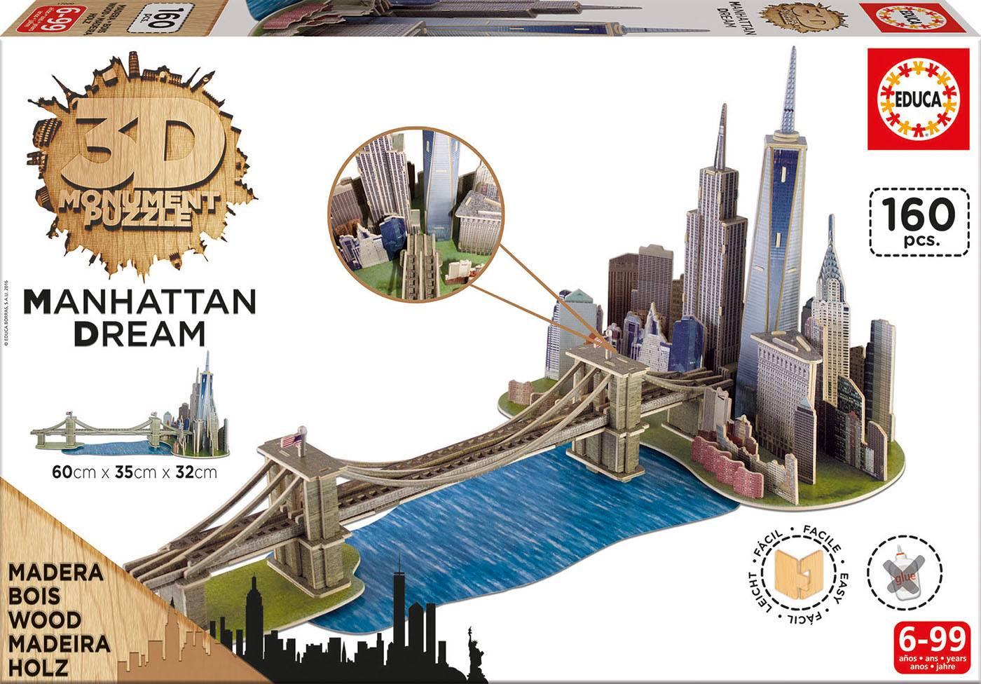 Puzzle 3d - 3d monument puzzle manhattan dream Puzzle 3d 160 pièces--E