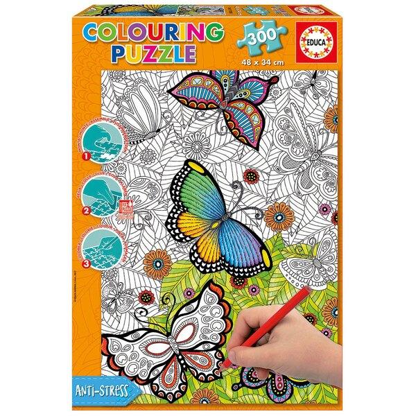"""Butterflies """"doodle art """" 300 pièces"""