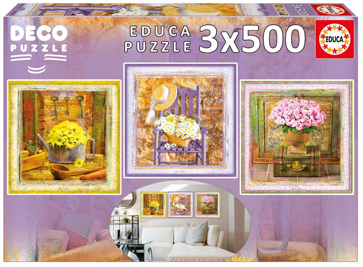 Puzzle déco - Enchanted moments, gail marie 500 pièces--Educa