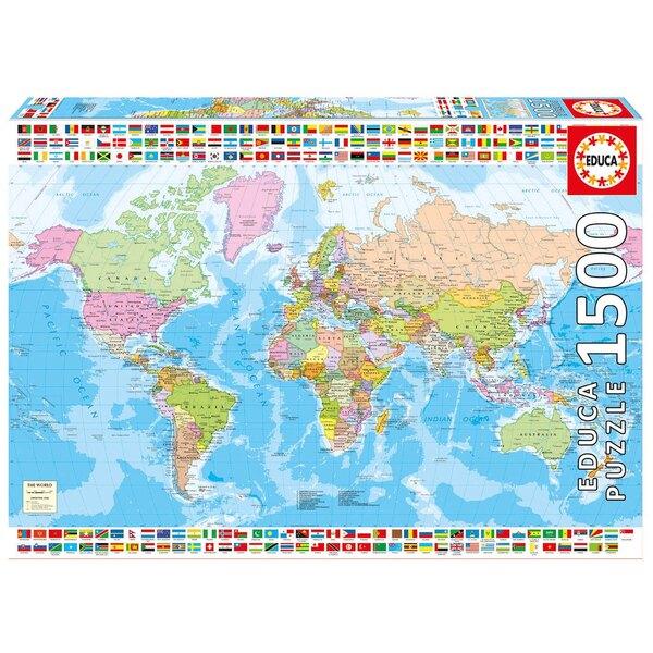 Mappemonde Puzzle 1500 pièces