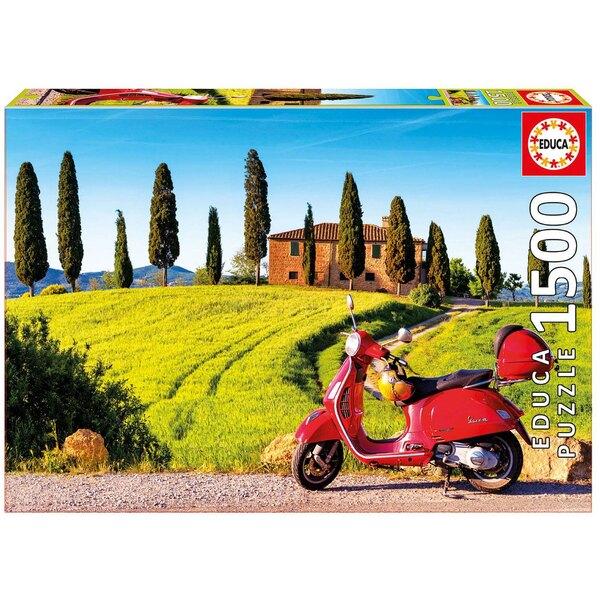 La toscane en moto Puzzle 1500 pièces