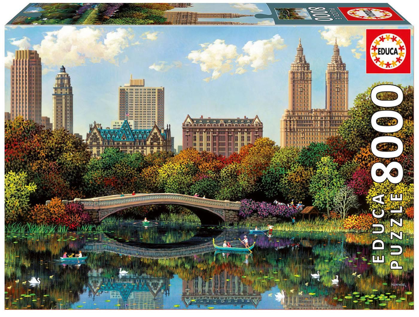 Puzzle - Central park bow bridge, alexander chen Puzzle 8000 pièces--E