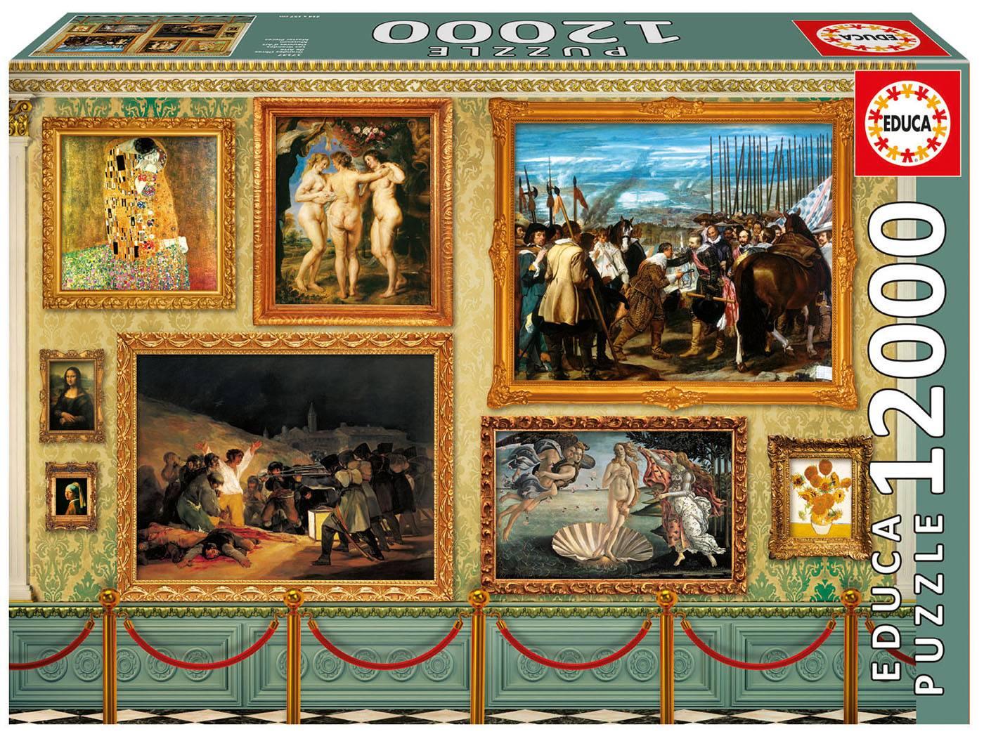 Puzzle xxl - les grandes oeuvres d'art 12000 pièces--Educa