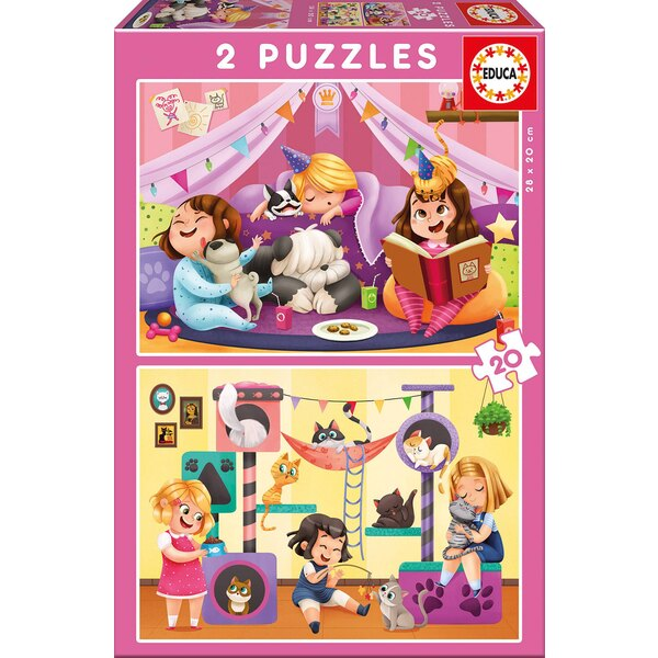 Pyjama party Puzzle 20 pièces