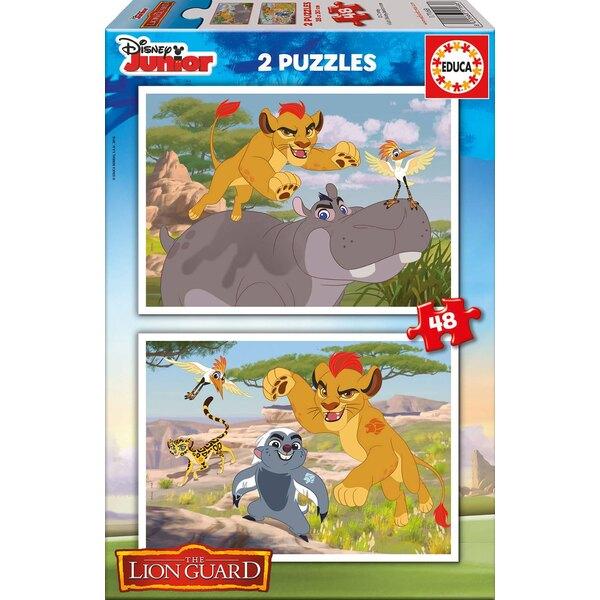 La garde du roi lion Puzzle 2 pièces