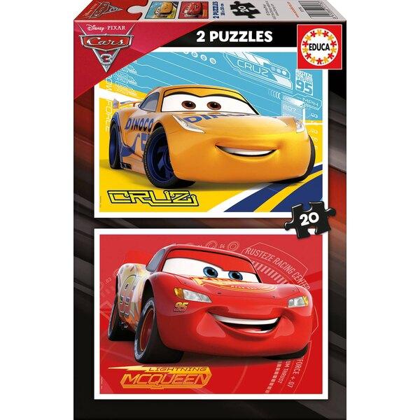 Cars 3 Puzzle 2 pièces