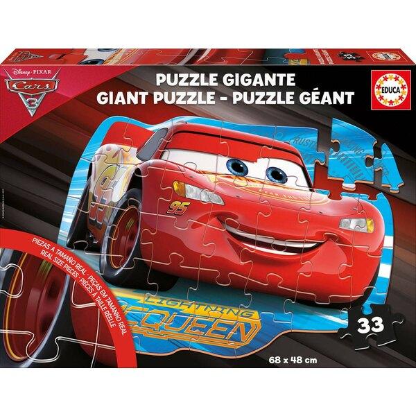 Puzzle géant de sol cars 3