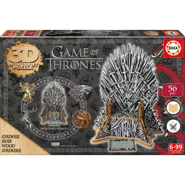Puzzle 3d Monument 3d puzzle puzzle game of thrones Educa EDUCA-17207