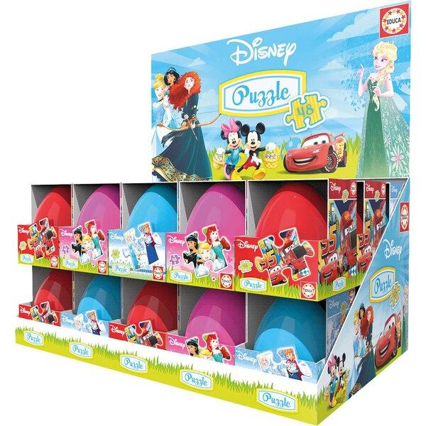 Display 30 oeufs puzzle 48 pcs (frozen, cars, princess) 48 pièces