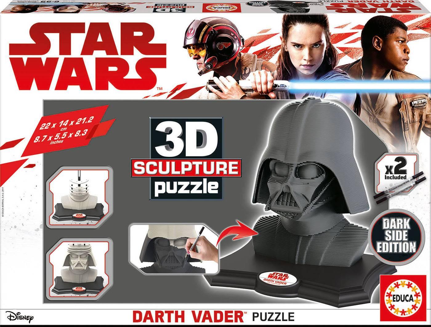 3d sculpture puzzle - 3d sculpture puzzle darth vader - dark side edit