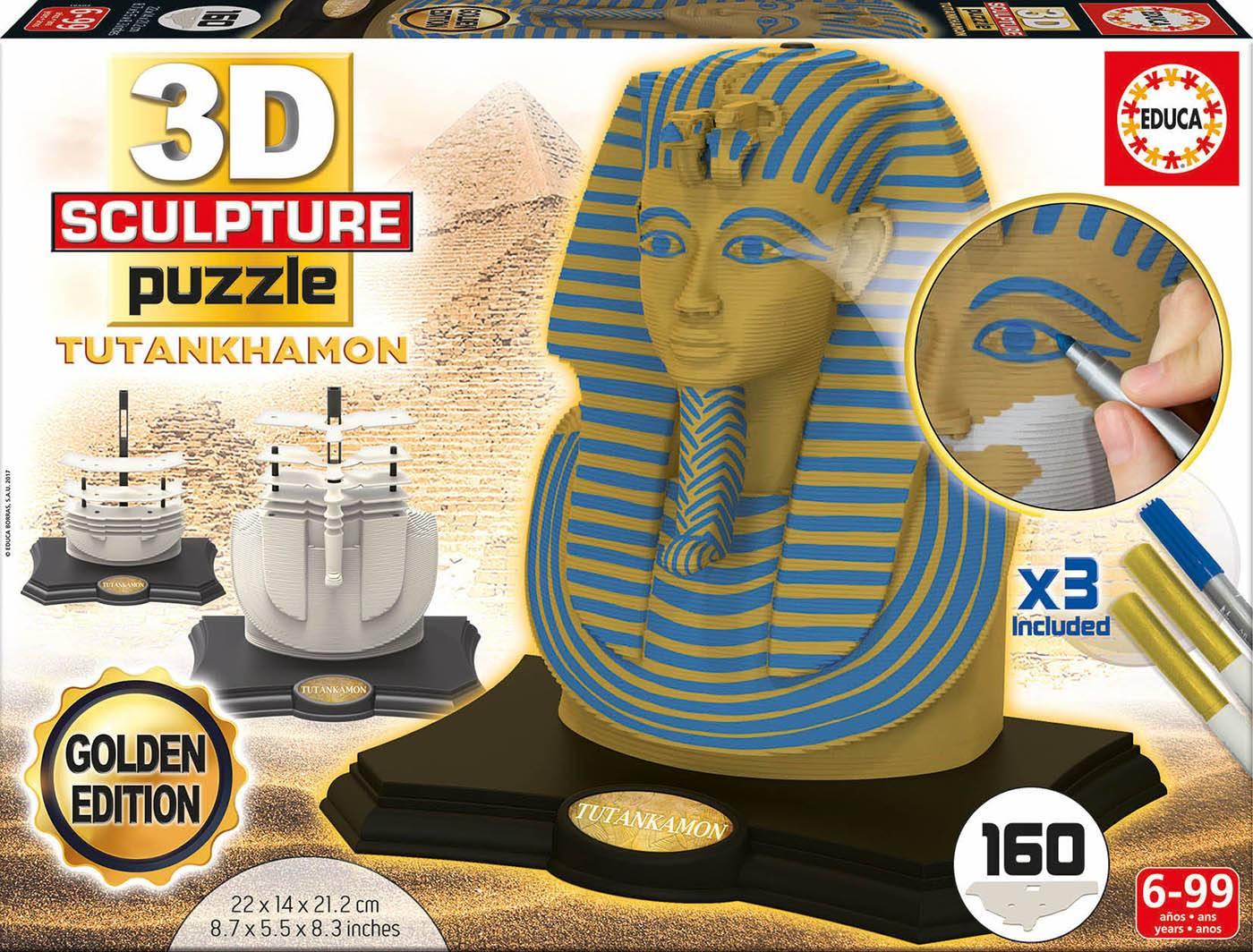 3d sculpture puzzle - 3d sculpture puzzle toutankhamon - gold edition