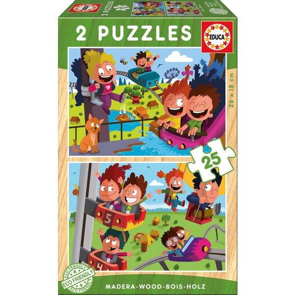 Puzzle bois parc d'attractions Puzzle 25 pièces