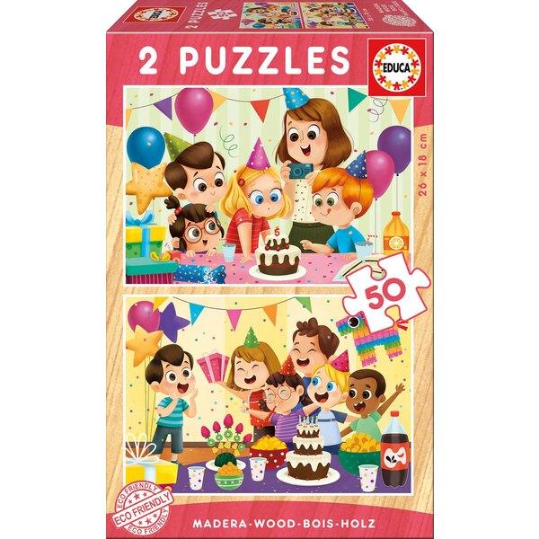 Puzzle bois fête d'anniversaire Puzzle 50 pièces