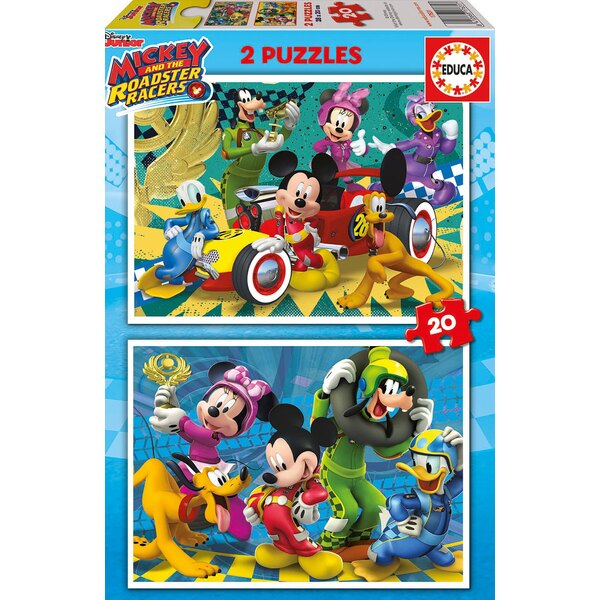 Mickey top départ Puzzle 2 pièces