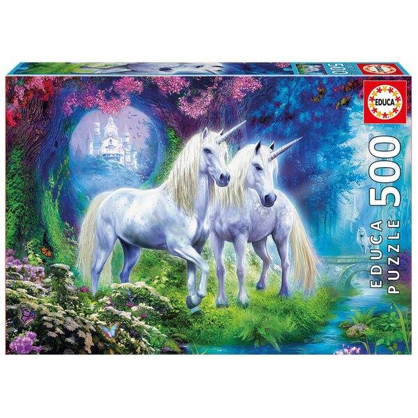 Des licornes dans la foret Puzzle 500 pièces