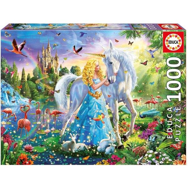 Puzzle La princesse et la licorne