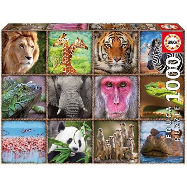 Collage d'animaux sauvages Puzzle 1000 pièces