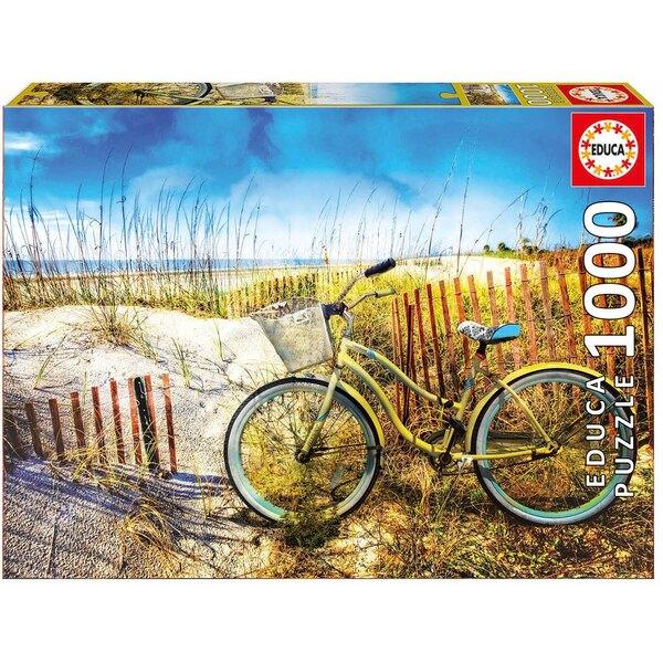 Bicyclette dans les dunes Puzzle 1000 pièces
