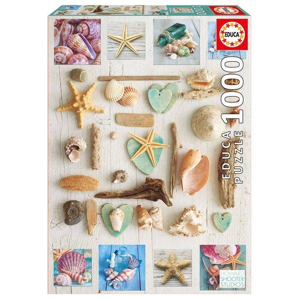 Collage de coquillages Puzzle 1000 pièces