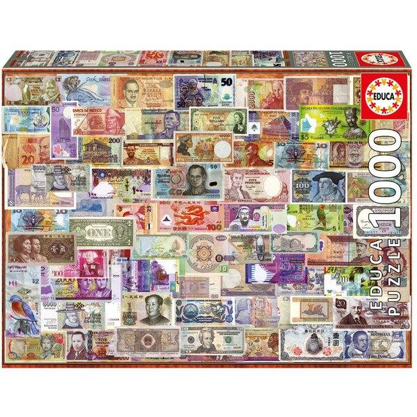 Billets du monde entier Puzzle 1000 pièces