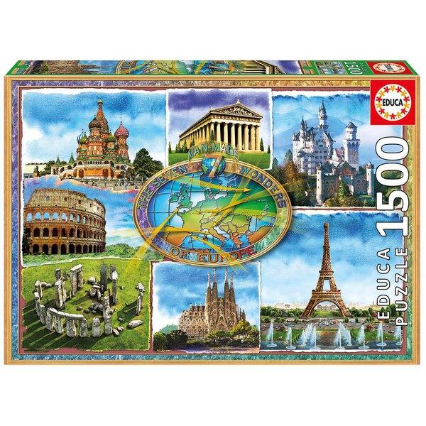 Sept merveilles d'europe Puzzle 1500 pièces