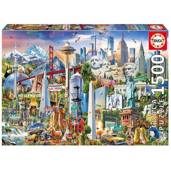 Symboles d'amerique du nord Puzzle 1500 pièces