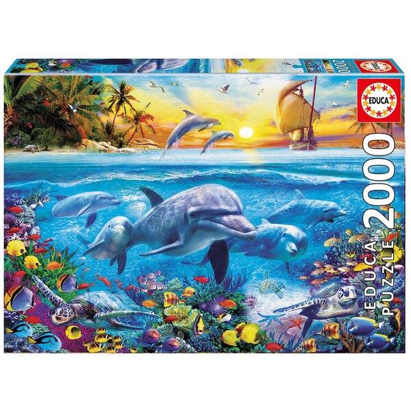 Famille de dauphins Puzzle 2000 pièces