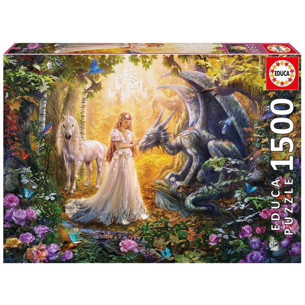Dragon, princesse et licorne Puzzle 1500 pièces