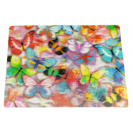 Puzzle 3d Puzzle 3D - 48 pieces - les papillons Riviera Games RIV-P3D03