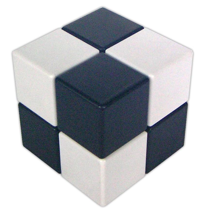 Casse-têtes - Grand cube simple noir et blanc --Riviera Games